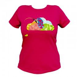 T-shirt femme BGD cloud rose