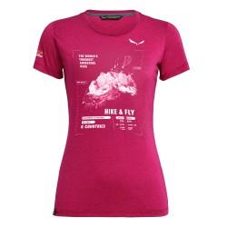 T-shirt femme X-Alps rose