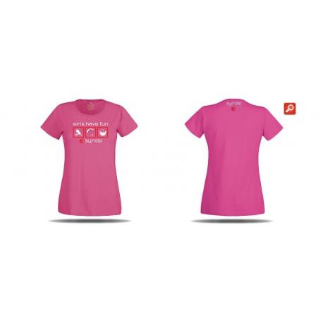 T-shirt syride girls fuschia