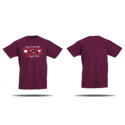 Tshirt Syride My friends bordeaux